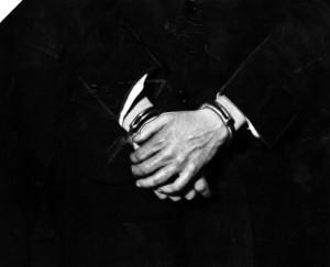 Hickman's hands.