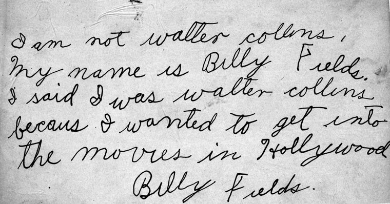 Billy Fields was an alias used by Arthur Hutchins, Jr. [Photo courtesy LAPL]