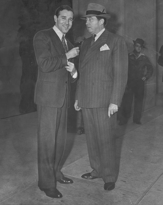 Bugsy Siegel and Jerry Geisler. [Photo courtesy of LAPL.]
