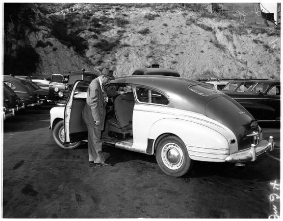 Barney's car. [Photo courtesy of USC Digital Archive]