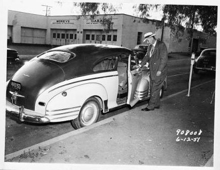 Mapes' car. [Photo courtesy of USC Digital Archive]