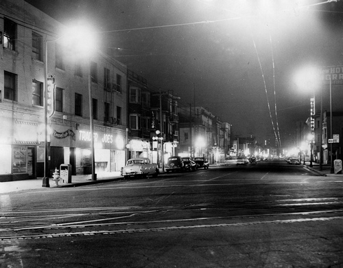 "The ""Nickel"" (Fifth Street) at night. [Photo courtesy of LAPl]"