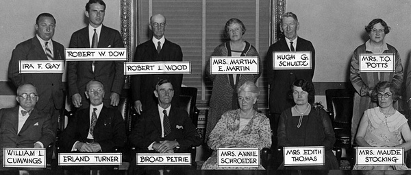 Jury in the Lois Pantages case. [Photo courtesy of LAPL]