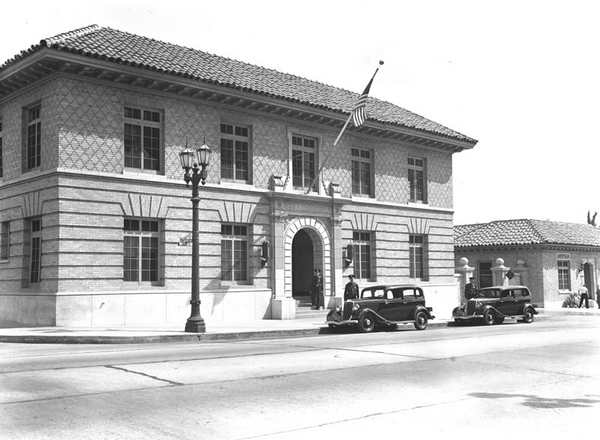 LAPD's Hollywood Station.  [Photo courtesy of LAPL