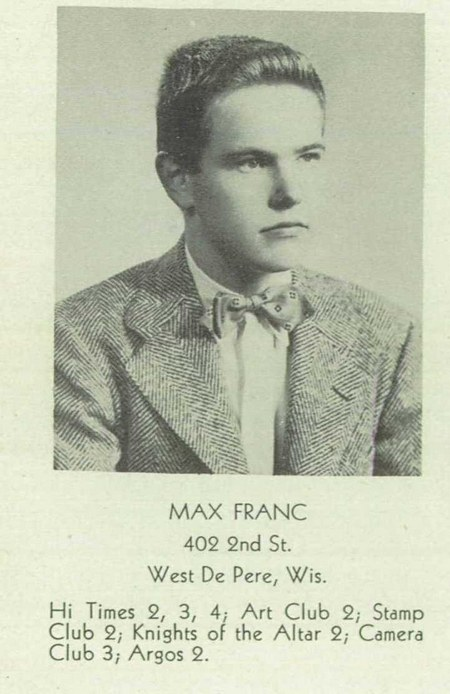 Max in high school.  Class of 1947
