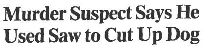 cut up dog