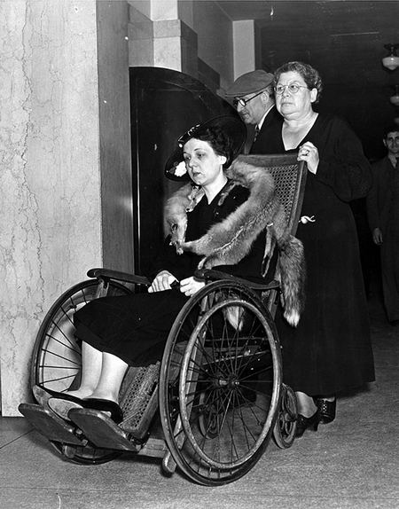 Helen in a wheel chair. Photo courtesy LAPL.