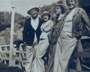 Oliver & Myrtle Hardy w/ Stan & Ruth Laurel