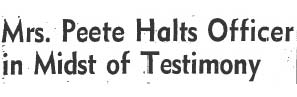 peete halts testimony