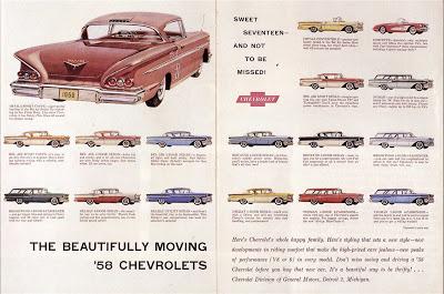 '58 Chev full line mag ad
