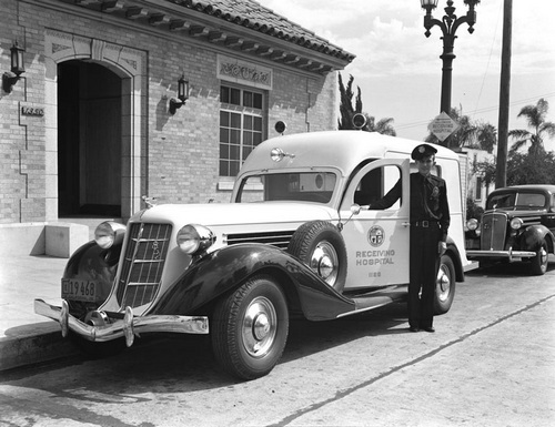 Hollywood Receiving Hospital c. 1936 [Photo courtesy of LAPL]