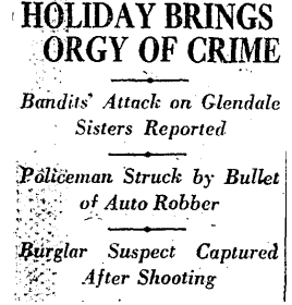 HOLIDAY ORGY OF CRIME