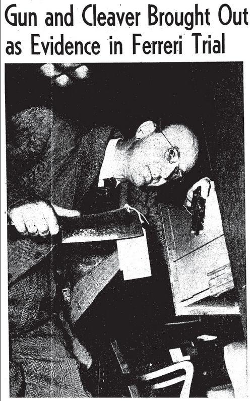 court clerk gun cleaver