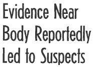EVIDENCE NEAR BODY