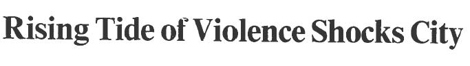 rising tide violence